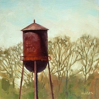 """Water Tower"" original fine art by Michael Naples"