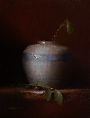 """""""Vase with Leaves"""" original fine art by Neil Carroll"""