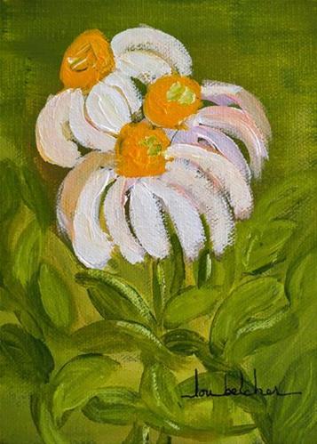 """""""Flower 0002"""" original fine art by Lou Belcher"""