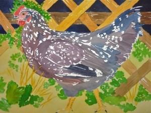 """Sept 27:  Speckled Sussex"" original fine art by Dana Richards"