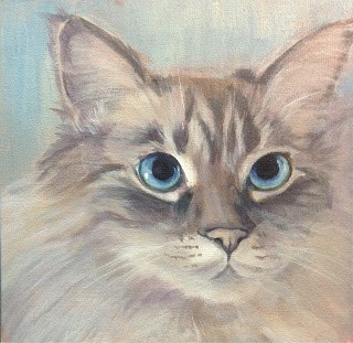 """""""Lindsey's Cats - Maggie"""" original fine art by Lyn Gill"""