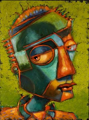 """Guys In Ties #4, The Opposition"" original fine art by Brenda York"