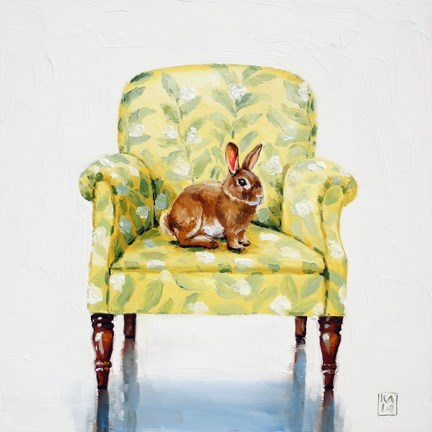 """sunny bunny"" original fine art by Kimberly Applegate"