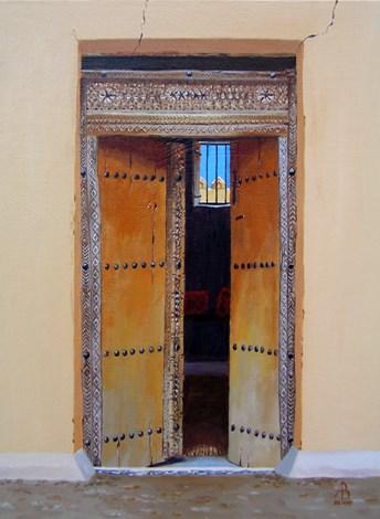 """Cool interior, Oman"" original fine art by Alix Baker PCAFAS AUA"