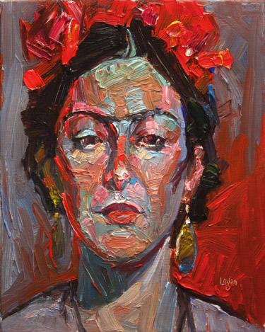 """""""Ma Lo as Frida, Again"""" original fine art by Raymond Logan"""