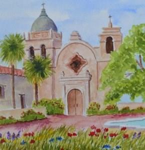 """""""Mission Garden"""" original fine art by Robert Frankis"""