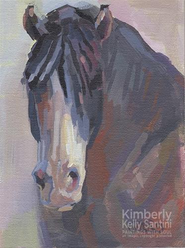 """Gray II"" original fine art by Kimberly Santini"