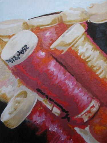 """Spools"" original fine art by Nan Johnson"