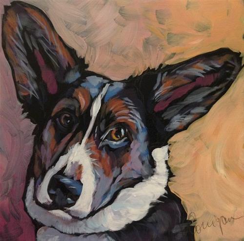 """Cecil, Again"" original fine art by Kat Corrigan"