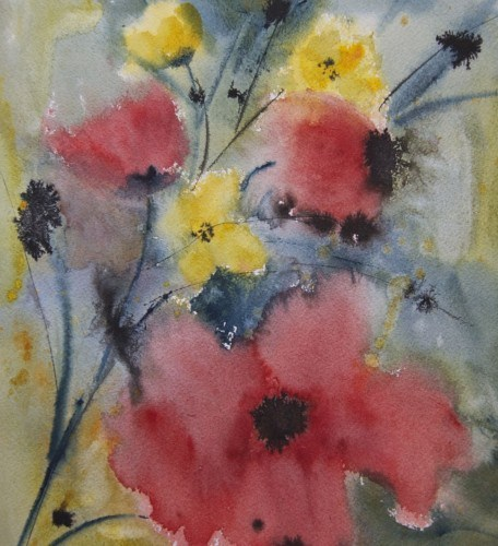 """Wild Flowers"" original fine art by Jean Lurssen"