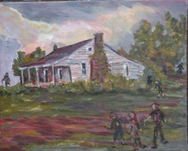 """""""Walkers and Biters"""" original fine art by Maggie Flatley"""
