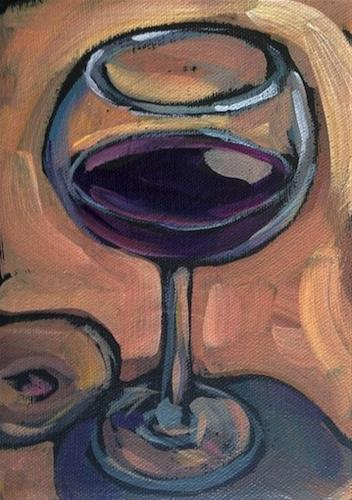"""Reflections On Wine"" original fine art by Kat Corrigan"