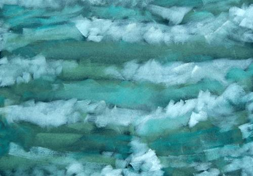 """""""Wave Formations"""" original fine art by Donna Crosby"""