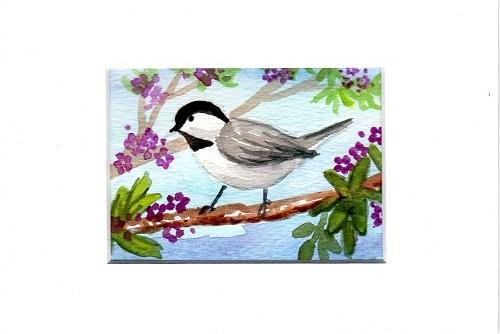 """""""Little Chickadee 1"""" original fine art by Patricia Ann Rizzo"""