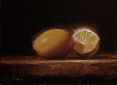 """Lemon and a Half - study"" original fine art by Neil Carroll"