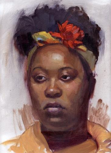 """Portrait Class at the Portsmouth Arts Guild"" original fine art by Kathy Weber"