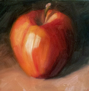 """January's Apple"" original fine art by Cindy Haase"