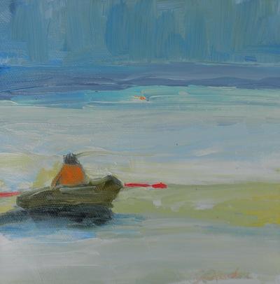 """""""Row 2"""" original fine art by Janet Bludau"""
