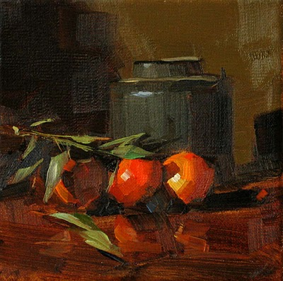 """Fresh Oranges --- Sold"" original fine art by Qiang Huang"