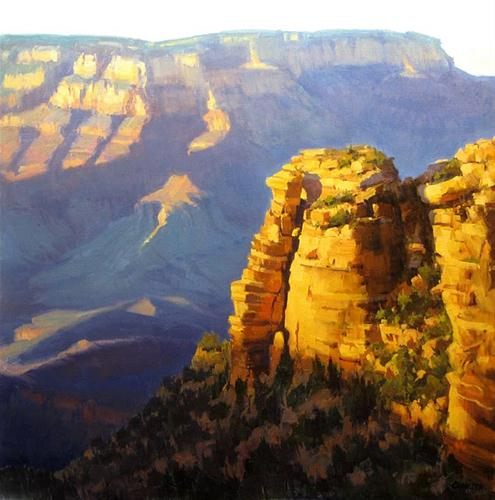 """""""LAST LIGHT GRAND CANYON"""" original fine art by James Coulter"""