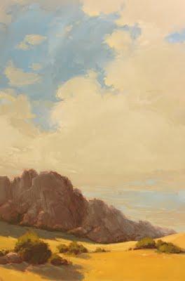 """Rocky Outcropping"" original fine art by Laurel Daniel"