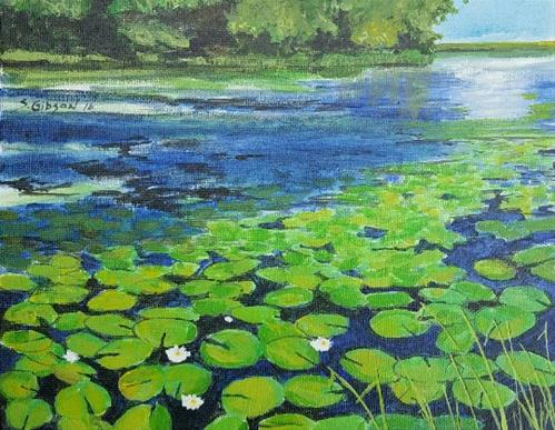 """Lily Pads at RedHaw"" original fine art by Steve Gibson"