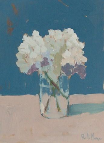 """""""White Hydrangea"""" original fine art by Pamela Munger"""
