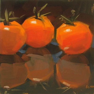 """""""Unreal Tomatoes & Back to Back --- SOLD"""" original fine art by Carol Marine"""