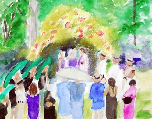 """Matrimony"" original fine art by Donna Crosby"