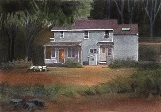"""Watercolor: Dusk"" original fine art by Belinda Del Pesco"