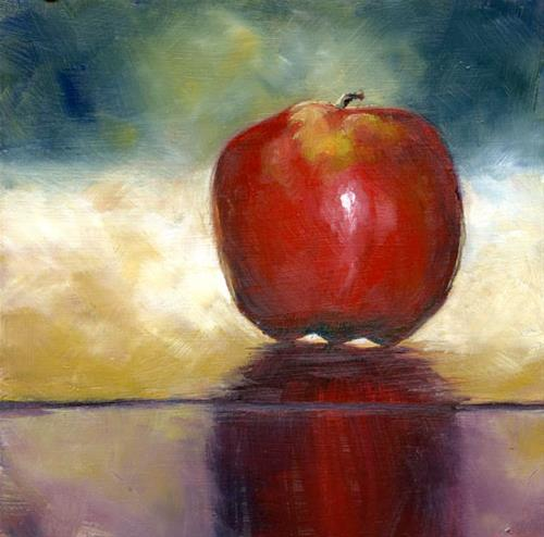 """""""Apple on Gold"""" original fine art by Eileen Hennemann"""