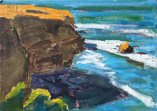 """Sunset Cliffs, San Diego"" original fine art by Kevin Inman"
