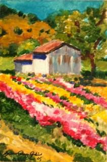 """""""Flower Shed"""" original fine art by JoAnne Perez Robinson"""