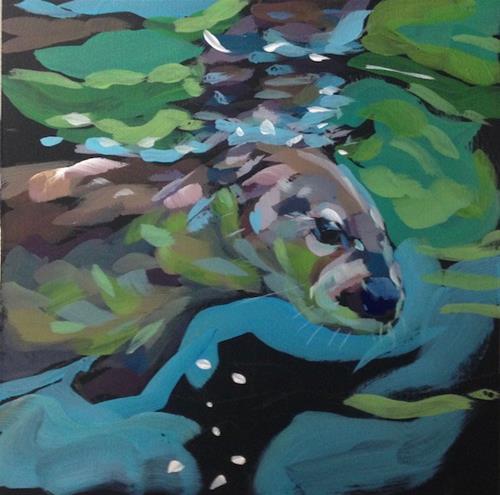 """Pondering the Depths"" original fine art by Kat Corrigan"
