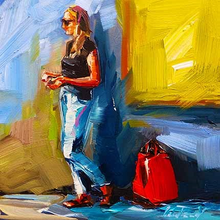 """Rote Tasche"" original fine art by Jurij Frey"