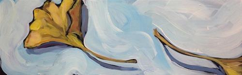 """Double Gingko Leaf"" original fine art by Kat Corrigan"