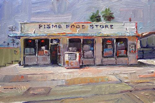 """Pismo Food Store"" original fine art by Raymond Logan"
