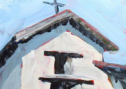 """Sonoma Mission"" original fine art by J. Farnsworth"