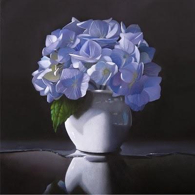 """""""Hydrangea 8x8"""" original fine art by M Collier"""