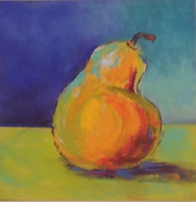 """Day 4 Pear"" original fine art by Angeli Petrocco Coover"