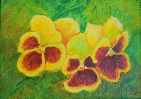 """Pansy 3"" original fine art by Gloria Urban"