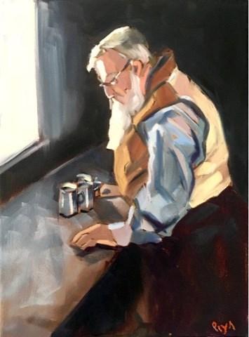 """Artisan at Work"" original fine art by Piya Samant"