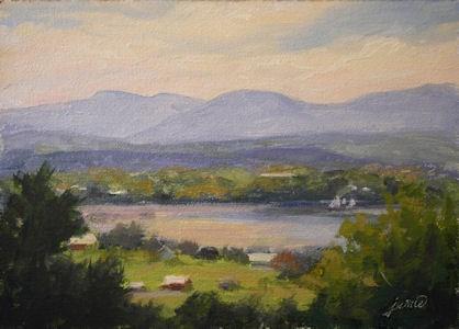"""Olana Vista"" original fine art by Jamie Williams Grossman"