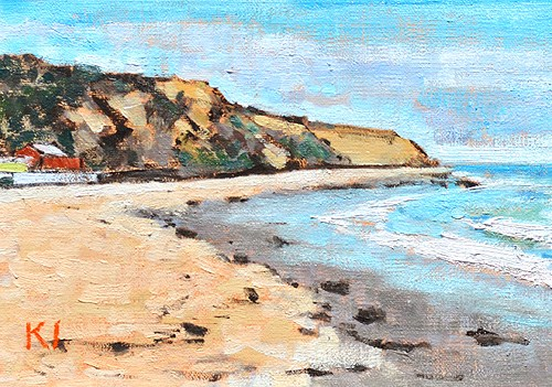 """""""Crystal Cove Beach Painting"""" original fine art by Kevin Inman"""