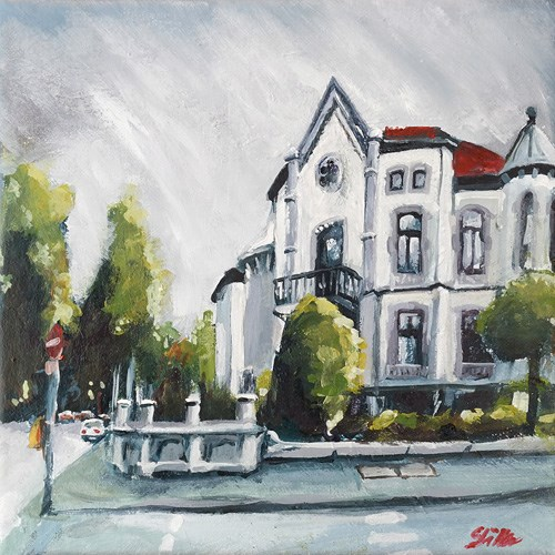 """1653 Zoo Corner House"" original fine art by Dietmar Stiller"