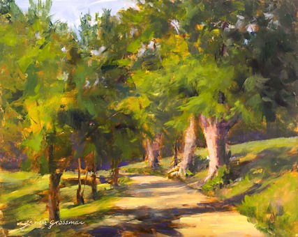 """Path to the Cozy Cottage"" original fine art by Jamie Williams Grossman"