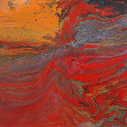 """""""5 - Melting substance"""" original fine art by Olga Touboltseva-Lefort"""