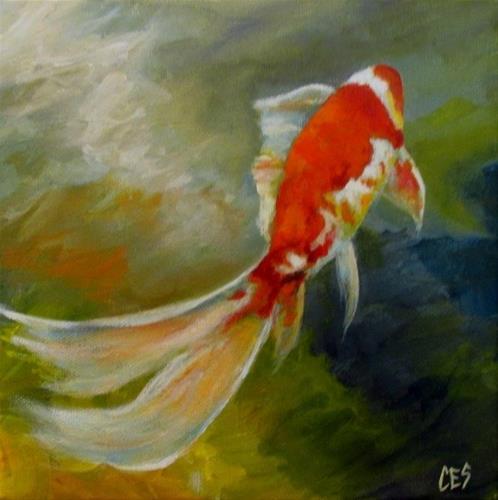 """Swimming Away"" original fine art by ~ces~ Christine E. S. Code"