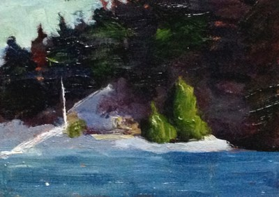 """""""Waiting for the Ferry View"""" original fine art by Susan Hammer"""