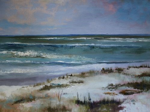 """""""Beach, Contemporary Seascape Paintings by Amy Whitehouse"""" original fine art by Amy Whitehouse"""